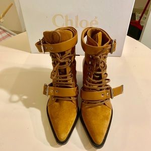 NEW Chloe Rylee Suede Ankle Boots
